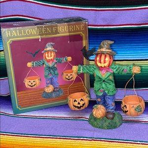 "Jaimy Halloween Figurine 7"" Resin Scarecrow"